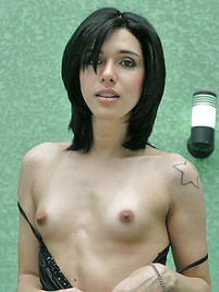 naked black hair girlfriend