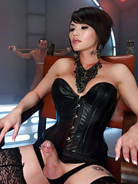 Lingerie cock sex sucking free shemale Asian